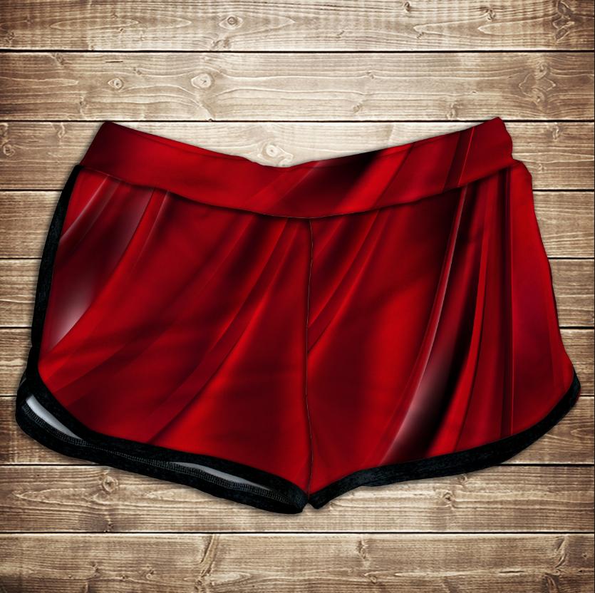 Шорти 3D принт жіночі -   red queen