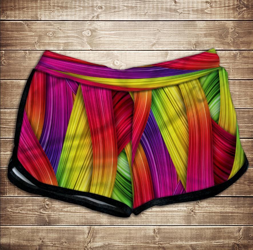 Шорти 3D принт жіночі -  rainbow color