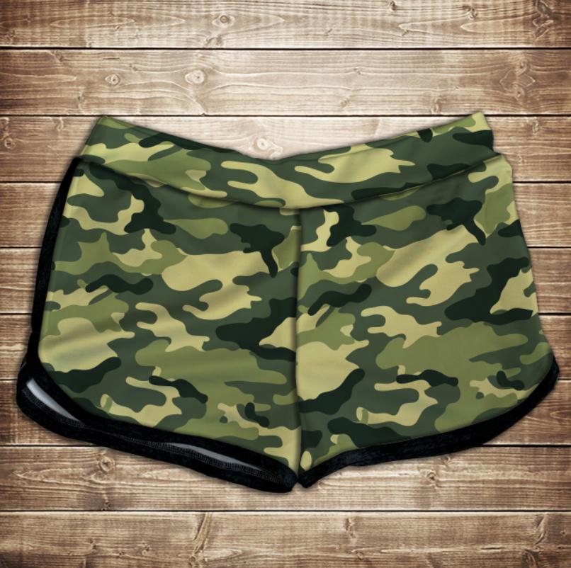 Шорти 3D принт жіночі -  camuflage classic