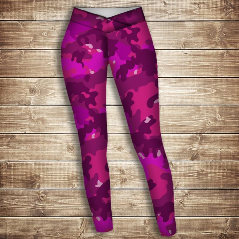 Лосини 3D -  pink camuflage