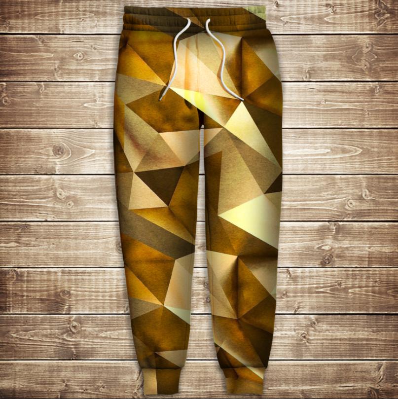 Штани 3D - Золотий кубізм
