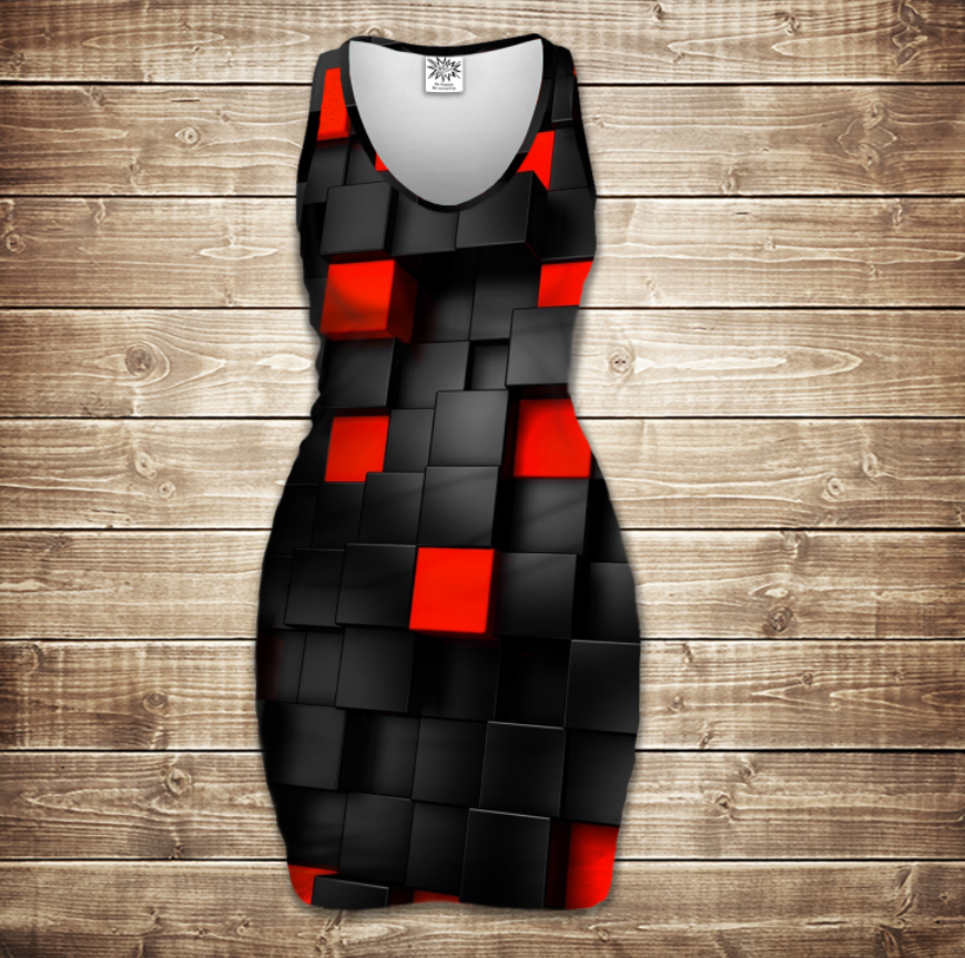 Плаття - майка 3D -   Undegraund red cub