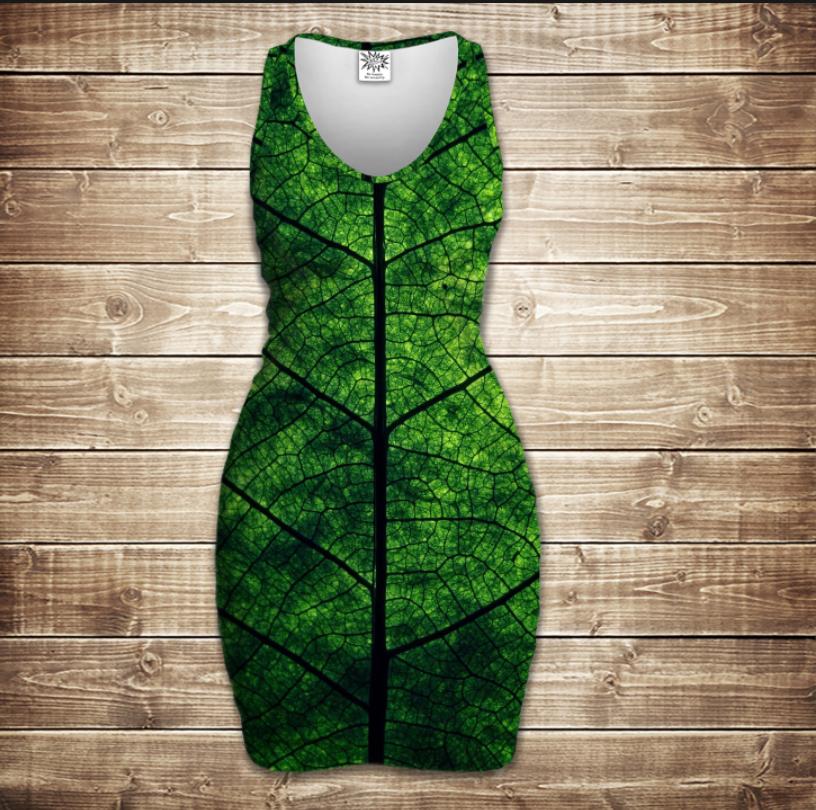 Плаття - майка 3D -  Листочок