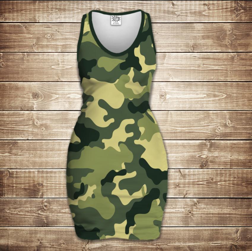 Плаття - майка 3D - Camuflage classic