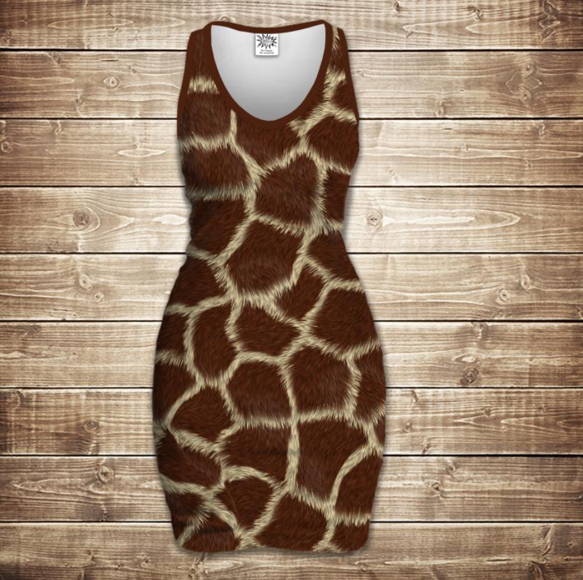 Плаття - майка 3D -Жирафа