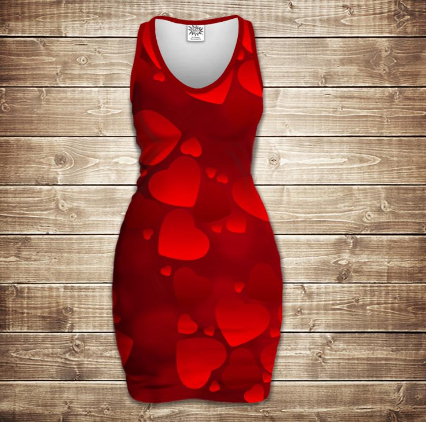Плаття - майка 3D -Love love