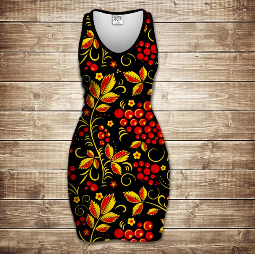 Плаття - майка 3D - Горобина