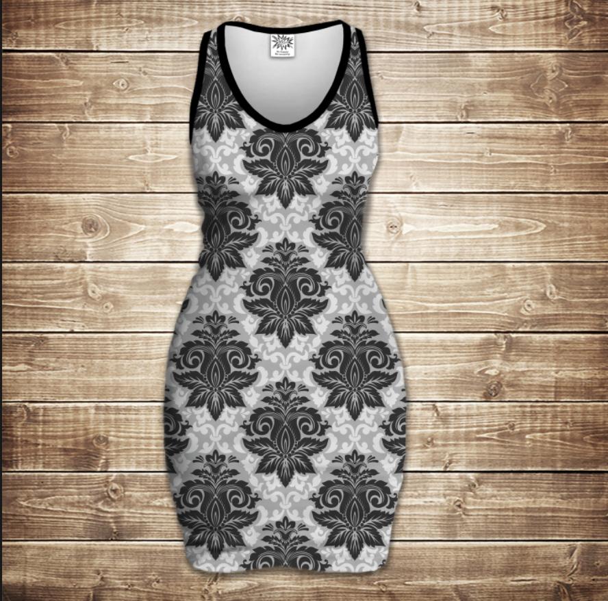 Плаття - майка 3D - Вінтаж