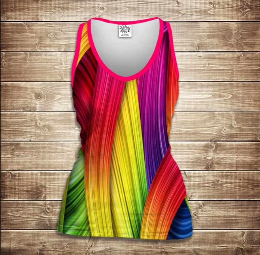 Майка жіноча 3D -Rainbow color