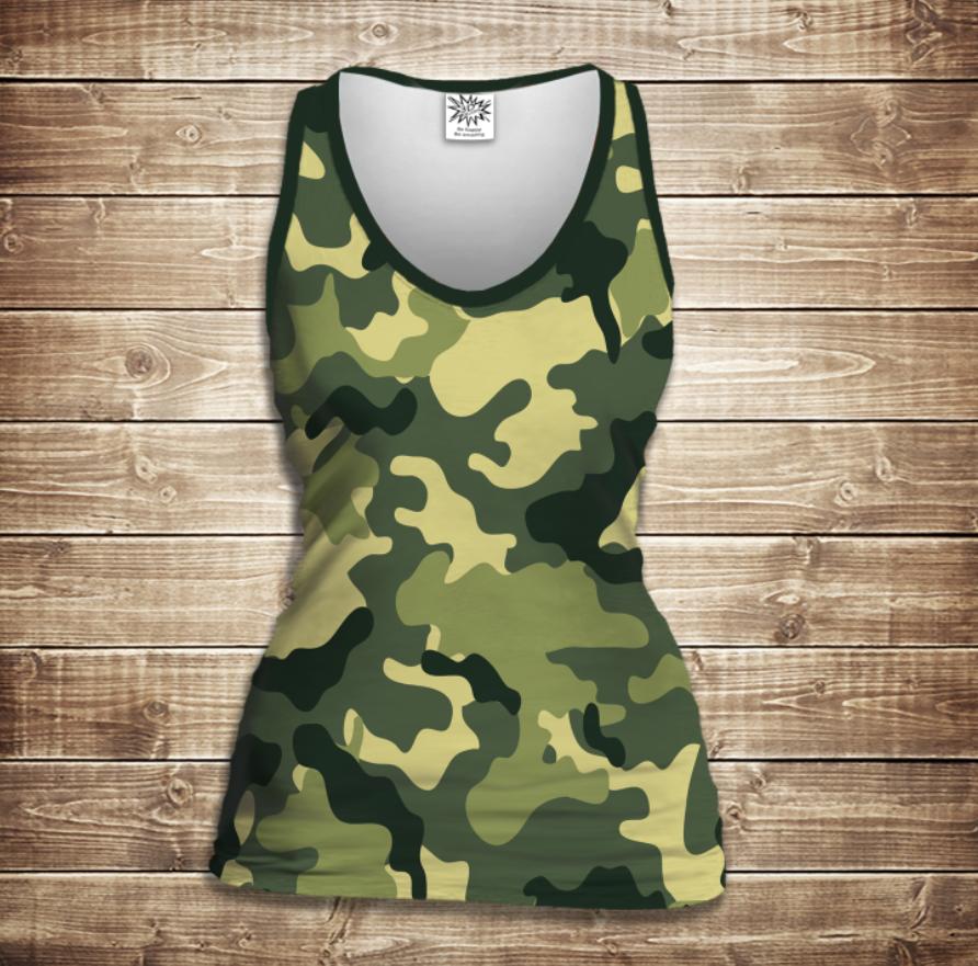 Майка жіноча 3D -Сamuflage classic