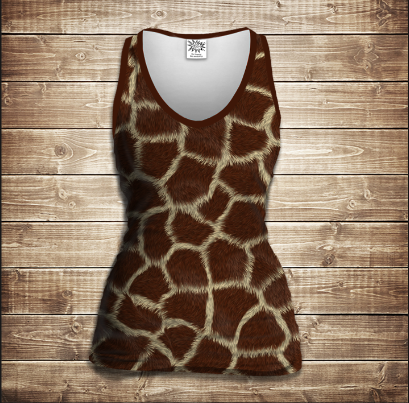 Майка жіноча 3D -Жирафа