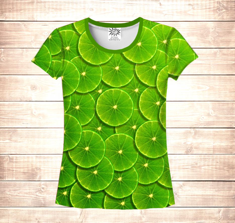 Футболка жіноча 3D - Green  lime