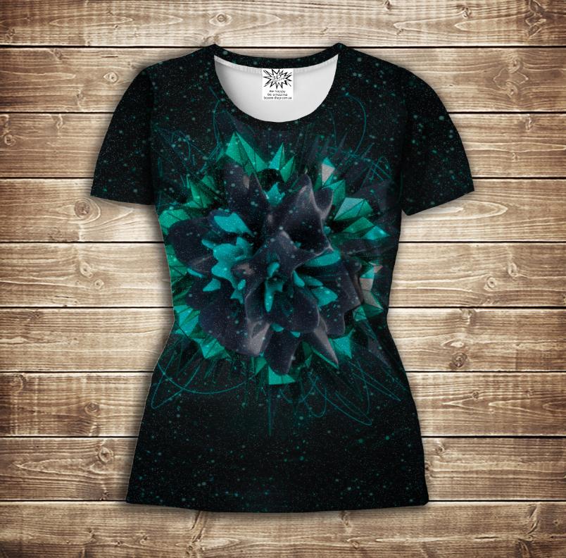 Футболка жіноча 3D -   Flower plazma