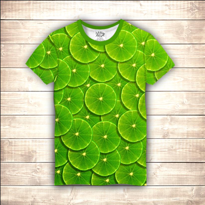 Футболка чоловіча 3D - Green lime