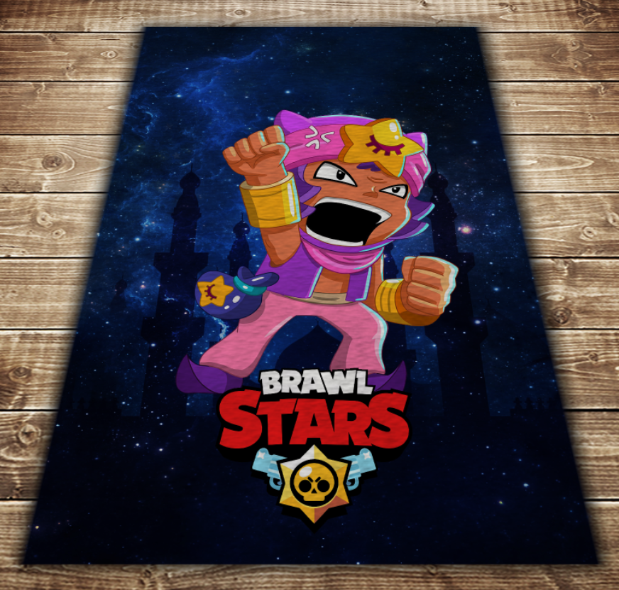 Плед з 3D принтом - Бравл Старс Сенді Brawl Stars