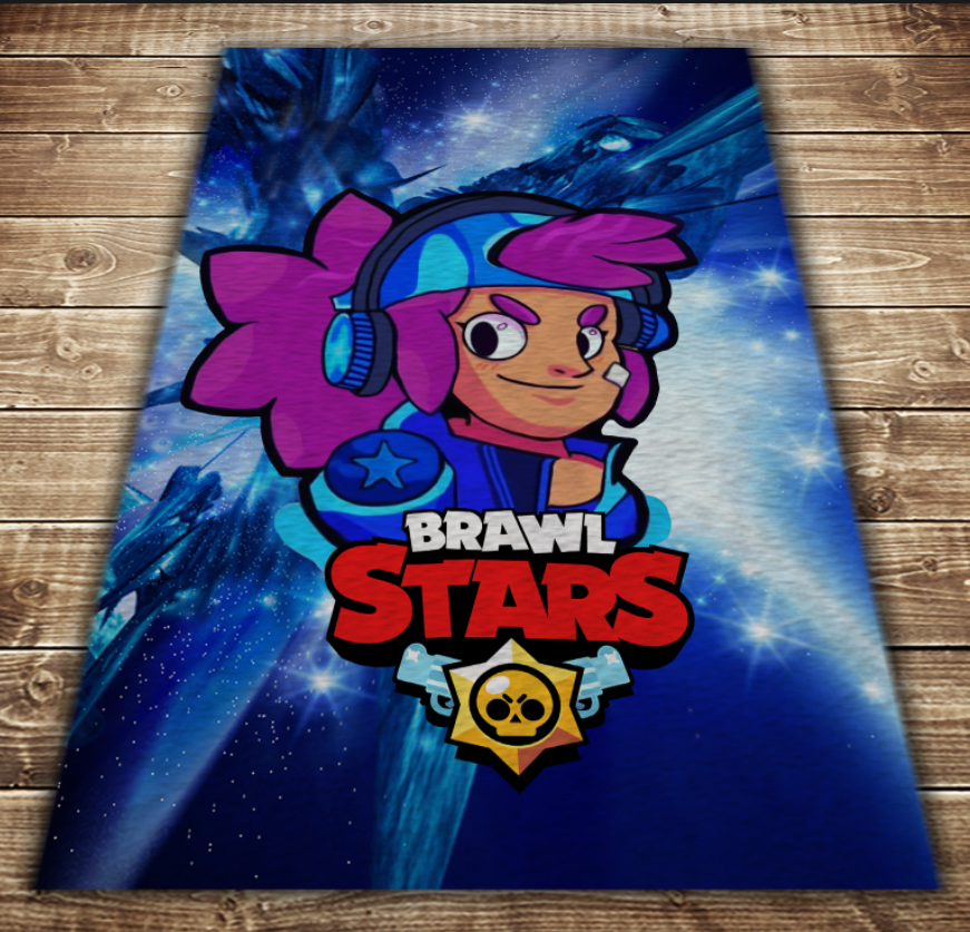 Плед з 3D принтом - Бравл Старс Шеллі Космос Brawl Stars