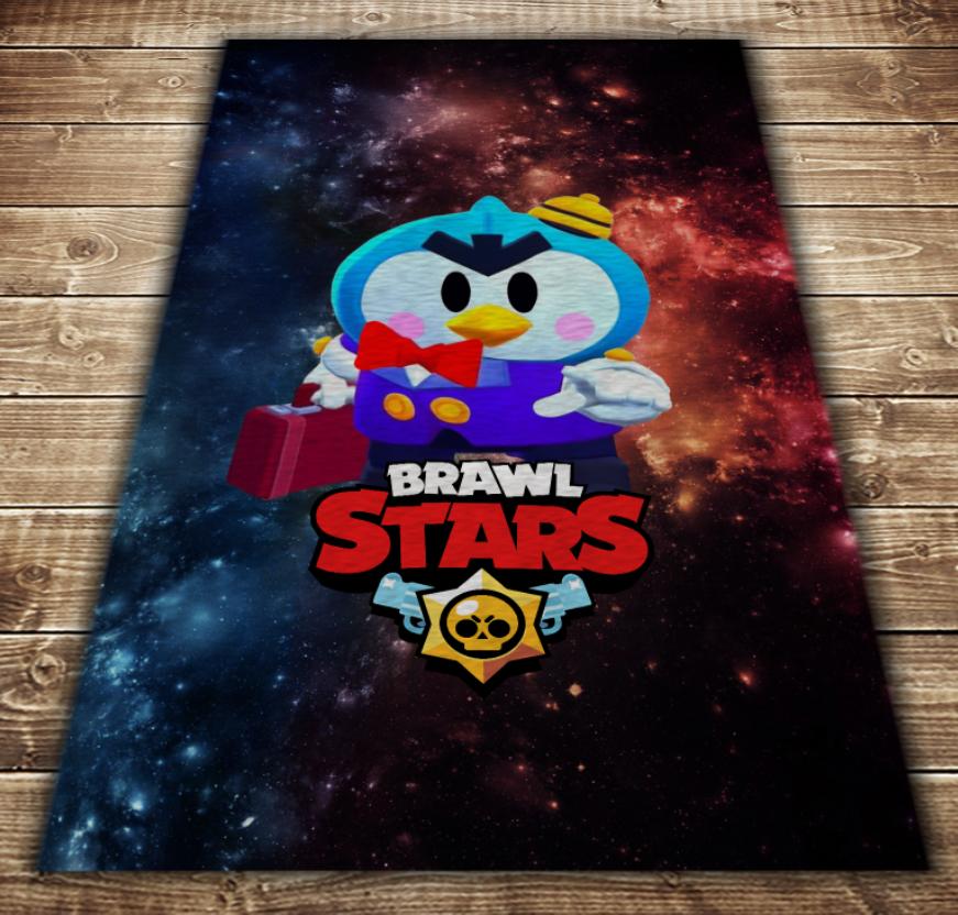 Плед з 3D принтом - Бравл Старс Містер Пі Brawl Stars