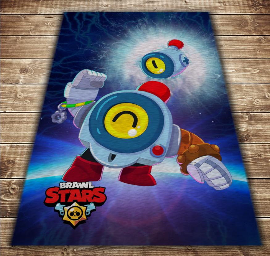 Плед з 3D принтом - Бравл Старс Нані Brawl Stars