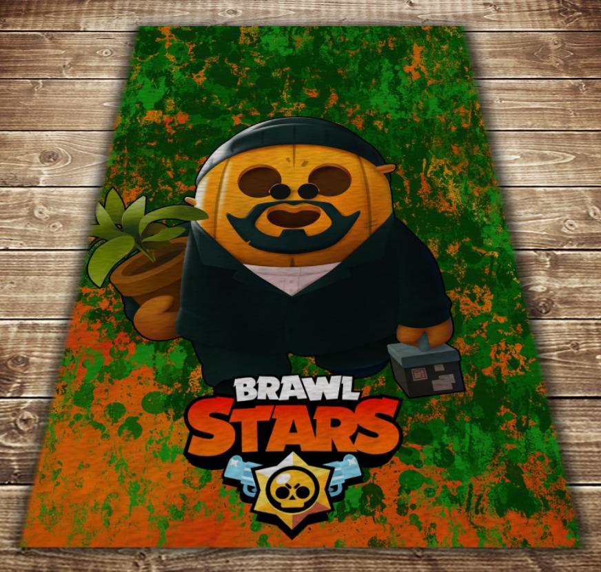Плед з 3D принтом - Бравл Старс Спайк Бос Skins Brawl Stars