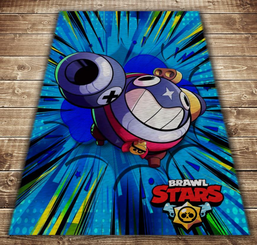 Плед з 3D принтом - Бравл Старс Тік Brawl Stars