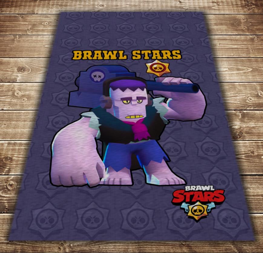 Плед з 3D принтом - Бравл Старс Френ Hello Brawl Stars
