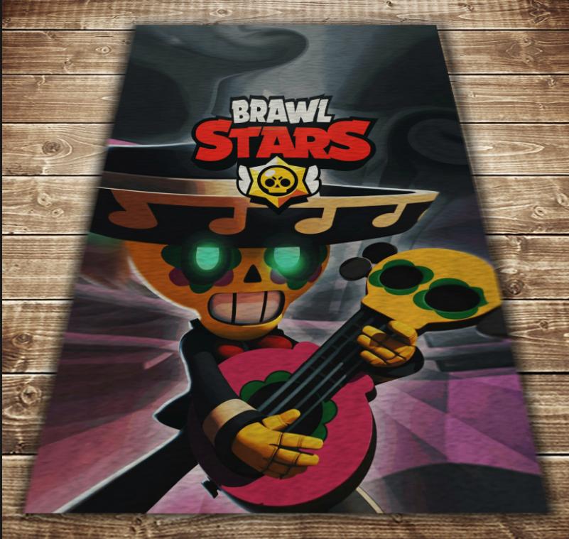 Плед з 3D принтом - Бравл Старс Покко і гітара Brawl Stars