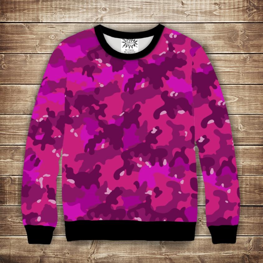 Світшот 3D жіночий - Pink camuflage