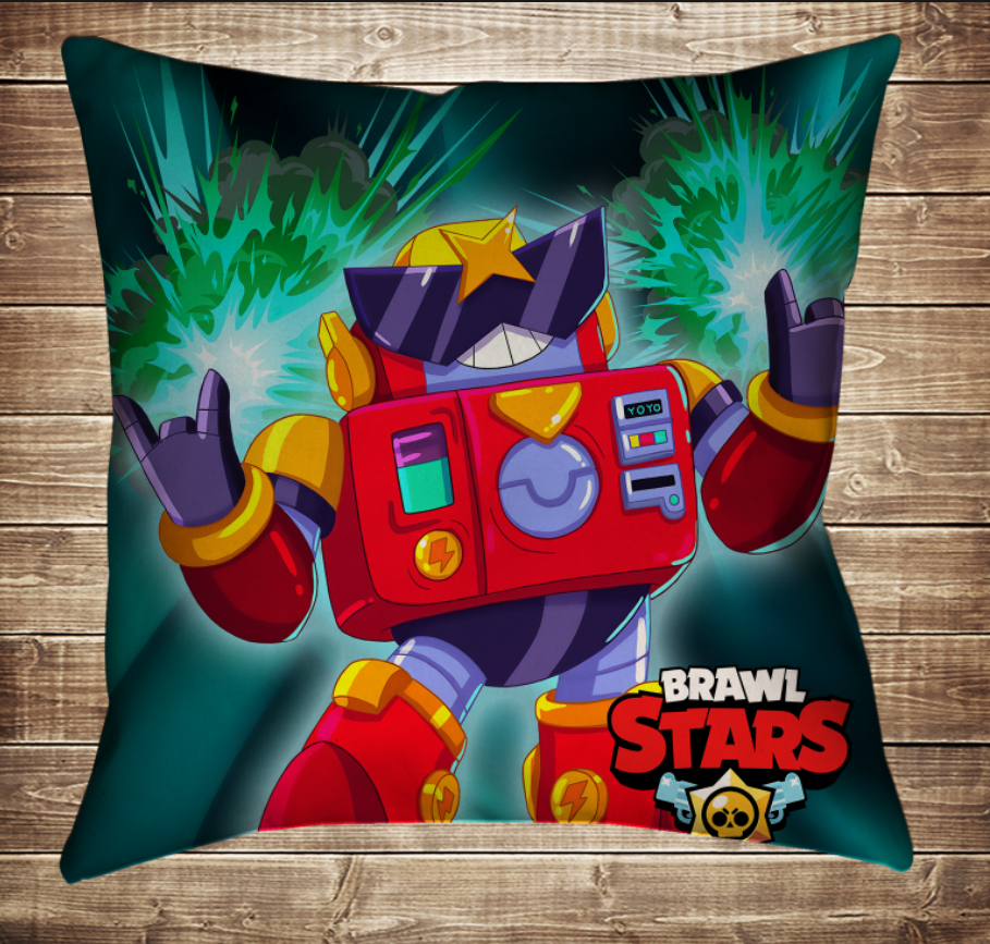 Подушка 3D - Бравл Старс Вольт Brawl Stars