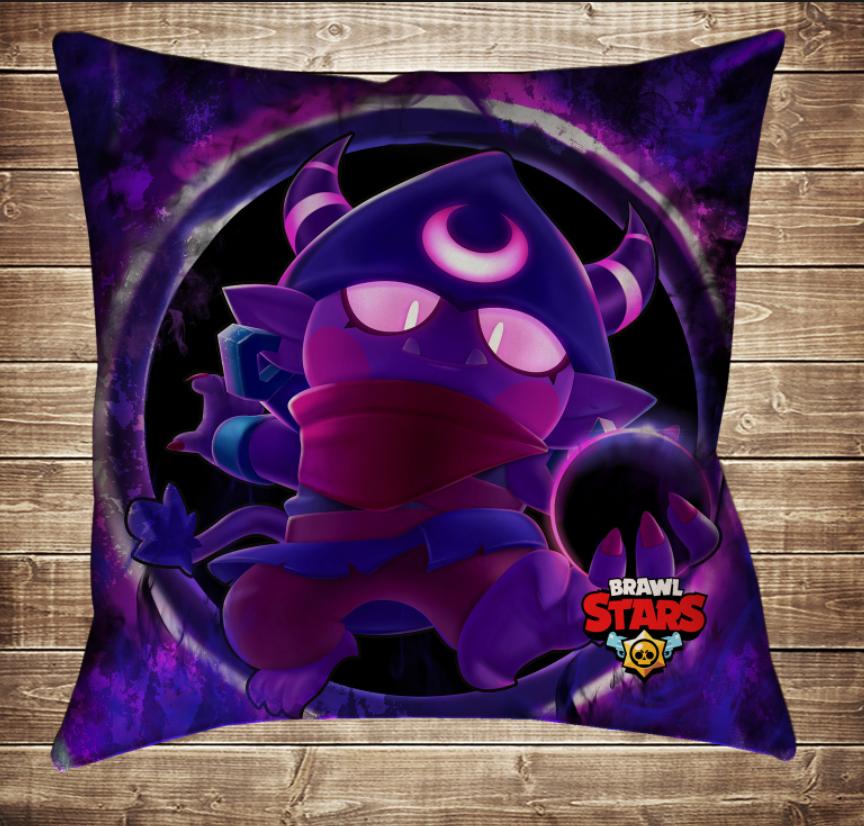 Подушка 3D - Бравл Старс Джин Темний Brawl Stars