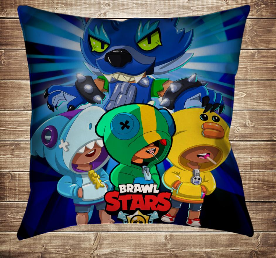 Подушка 3D - Бравл Старс 4 Леона Скіни Brawl Stars