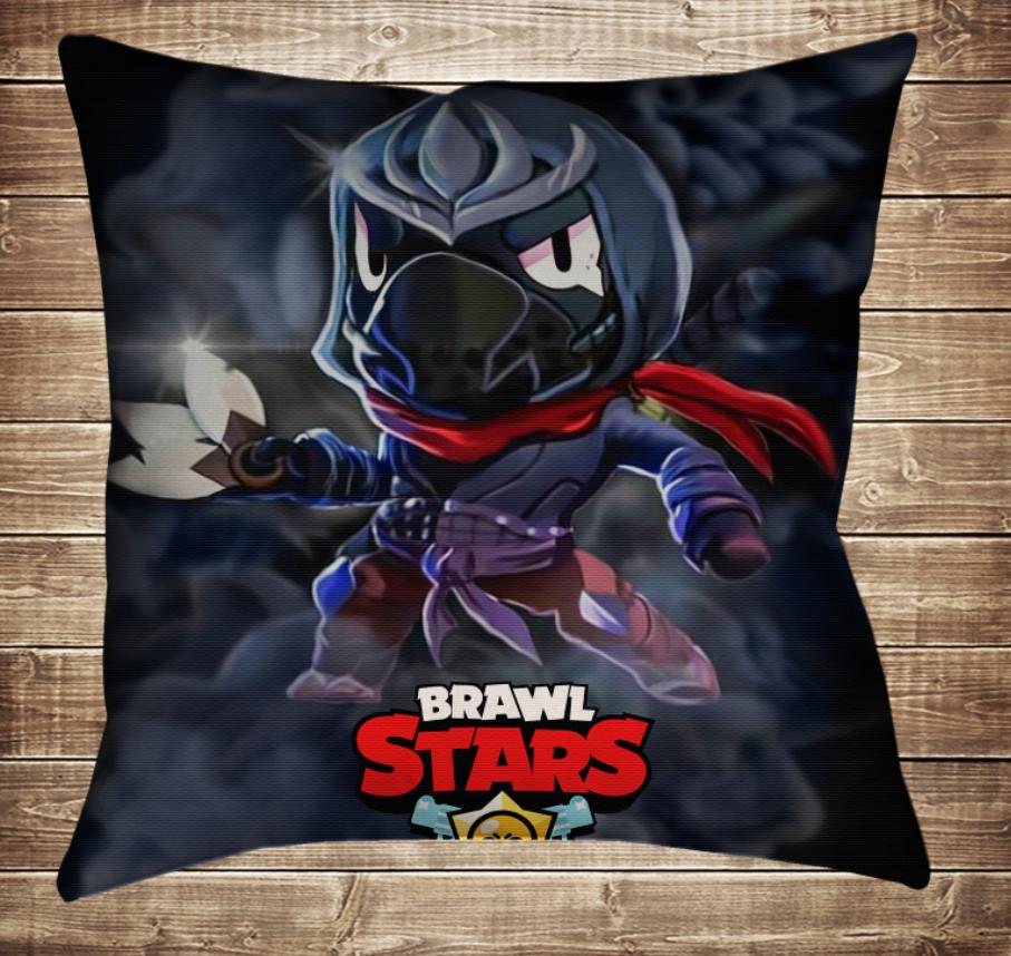 Подушка 3D - Бравл Старс Ворон Ассасін Brawl Stars
