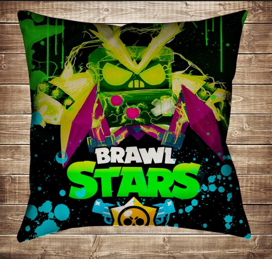 Подушка 3D - Бравл Старс Вірус Неон Brawl Stars
