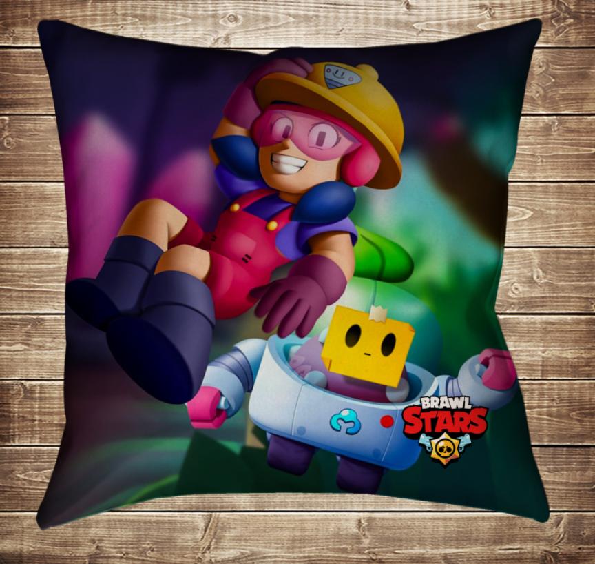 Подушка 3D - Бравл Старс Джекі і Спраут Brawl Stars
