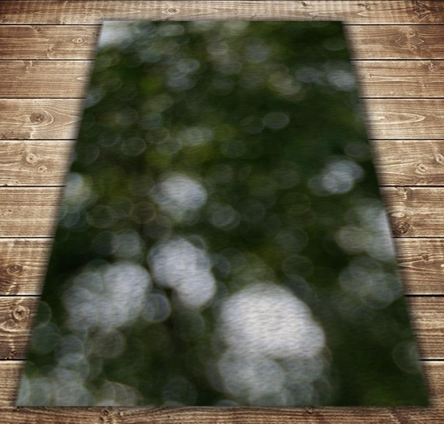 Плед з 3D принтом - Боке зелений