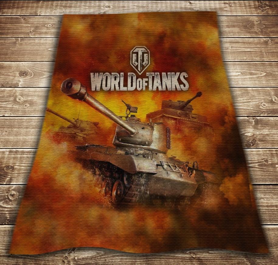 Плед з 3D принтом - Tanks Fayker