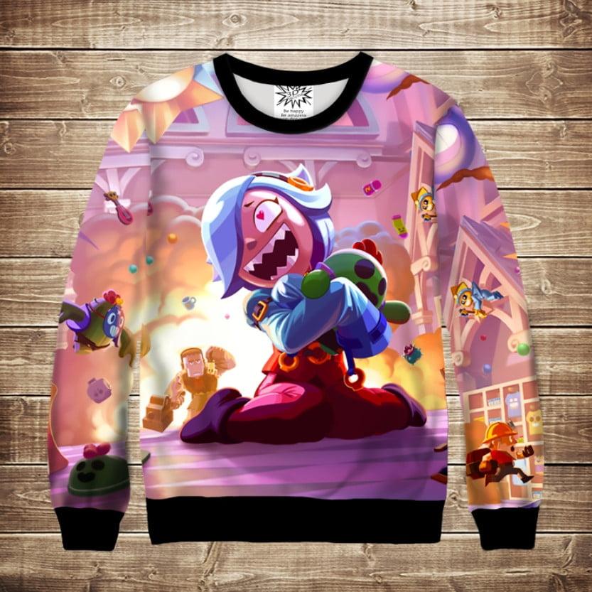 Світшот дитячий 3D Trixie Collete & Spike Brawl Stars