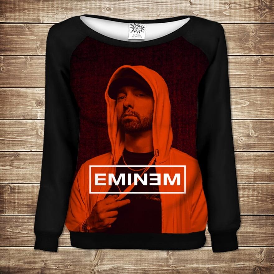 Жіночий світшот - реглан в романтичному стилі з 3D принтом - Eminem Face