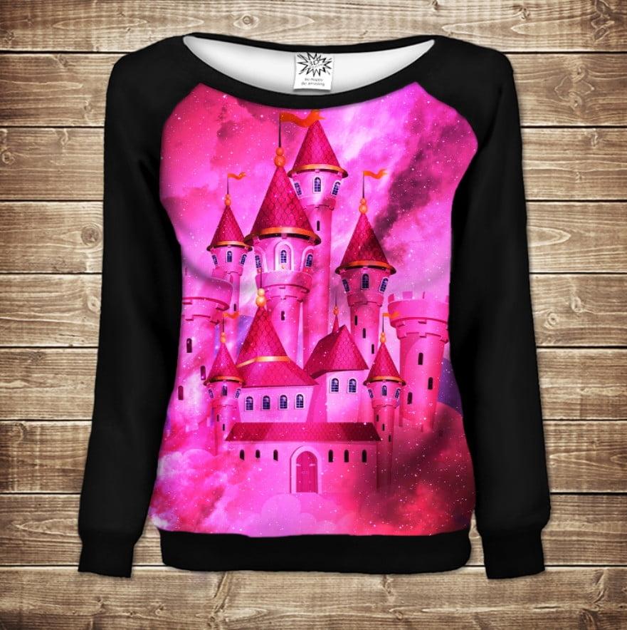 Жіночий світшот - реглан в романтичному стилі з 3D принтом - Чарівний Замок Мрій