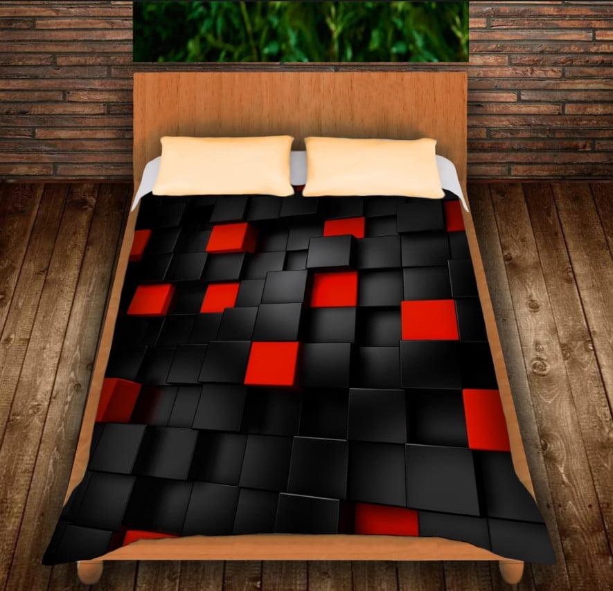 Плед з 3D принтом -Undegraund red cub