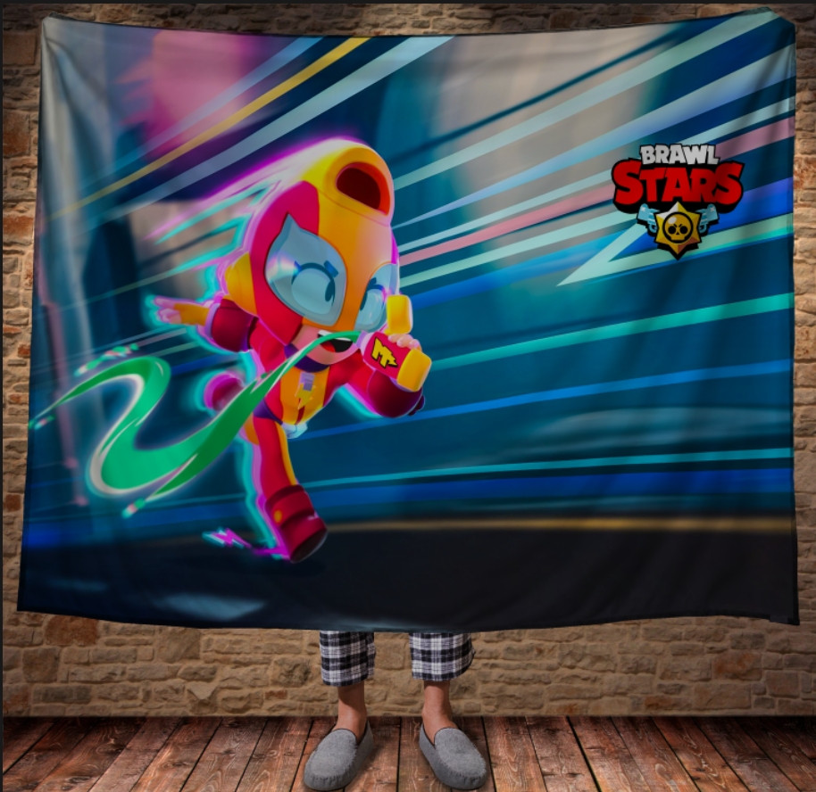 Плед з 3D принтом - Бравл Старс Макс Старт Brawl Stars