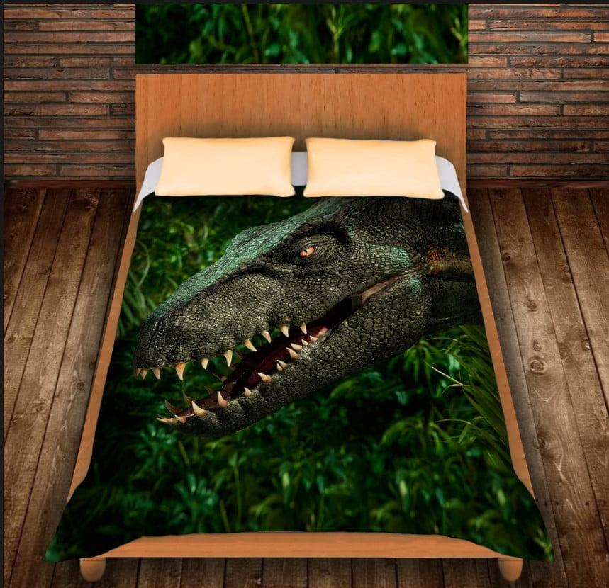Плед з 3D принтом - Динозавр в джунглях