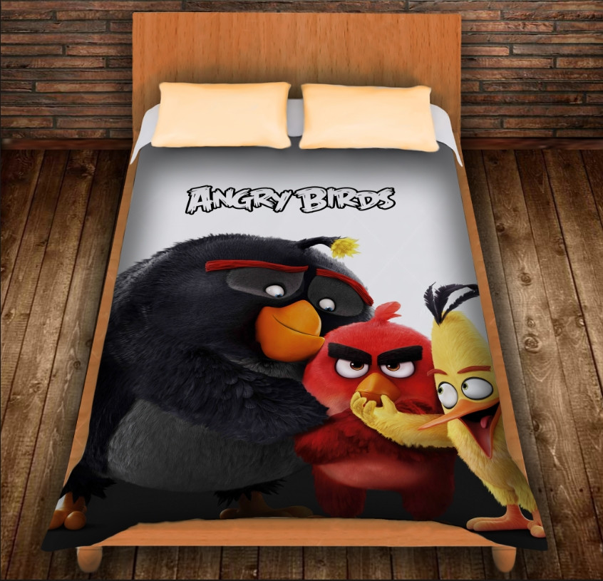 Плед з 3D принтом - Angry Birds Friends