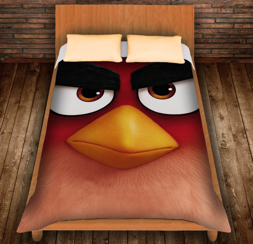 Плед з 3D принтом - Angry Birds Red