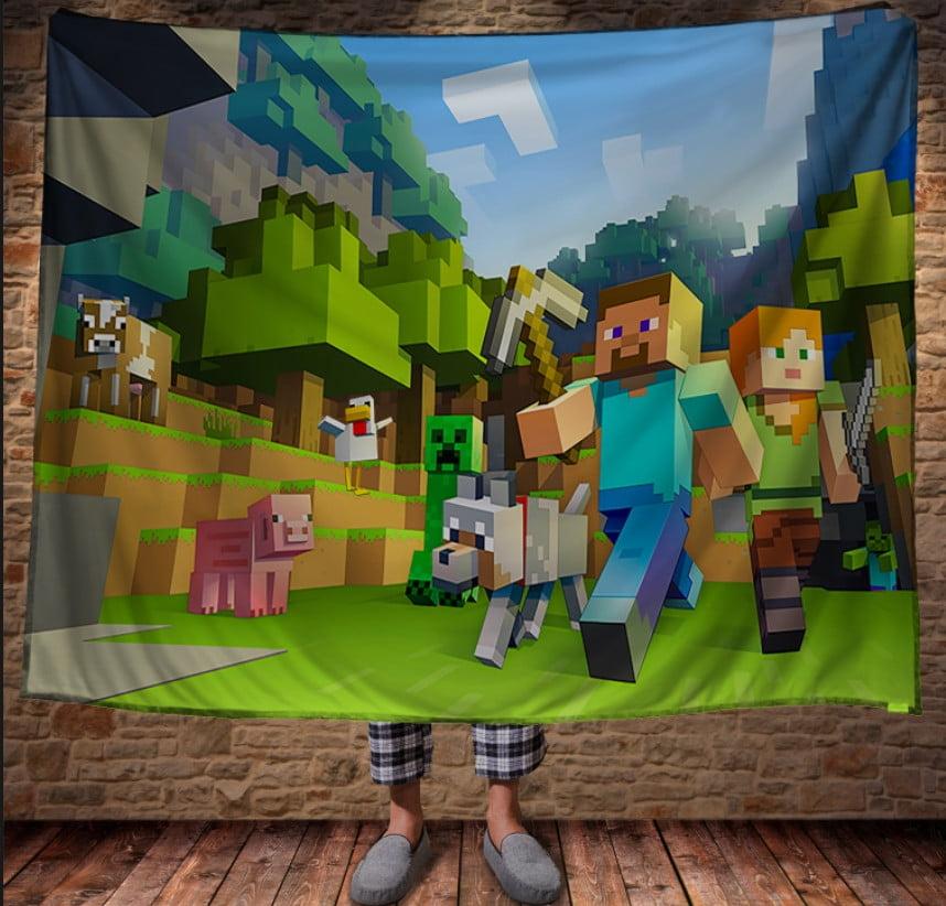 Плед з 3D принтом - Minecraft classic