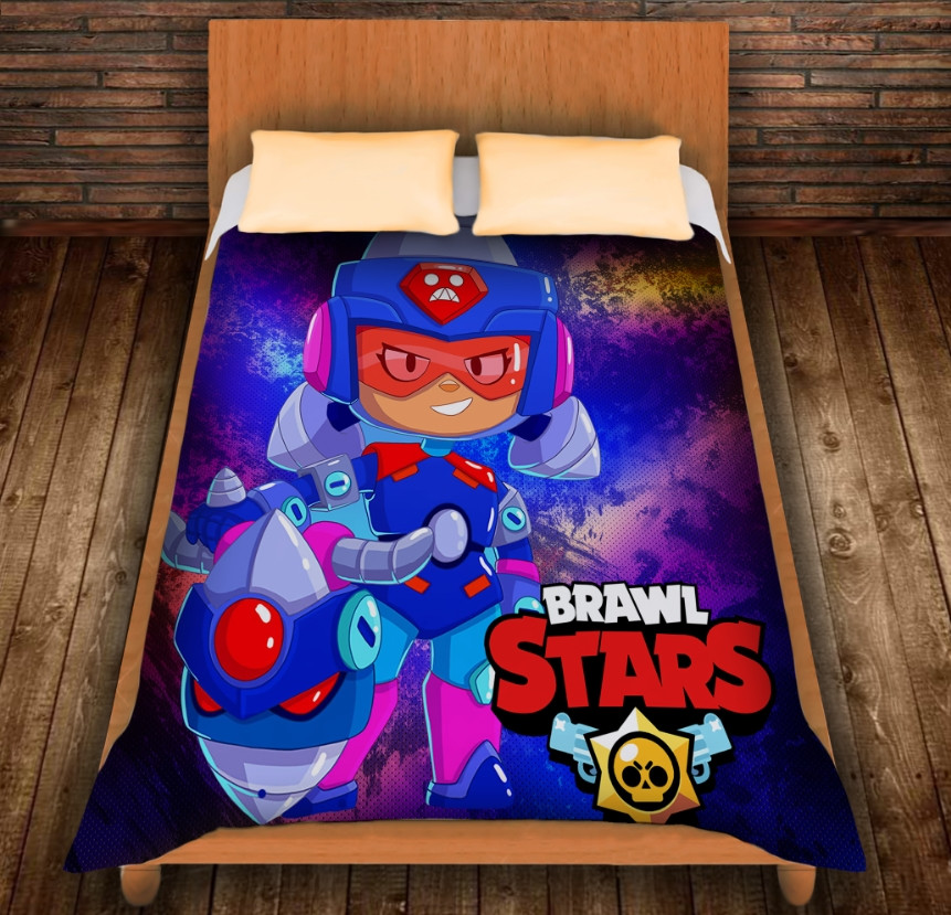 Плед з 3D принтом - Бравл Старс Джеккі Ультра Brawl Stars
