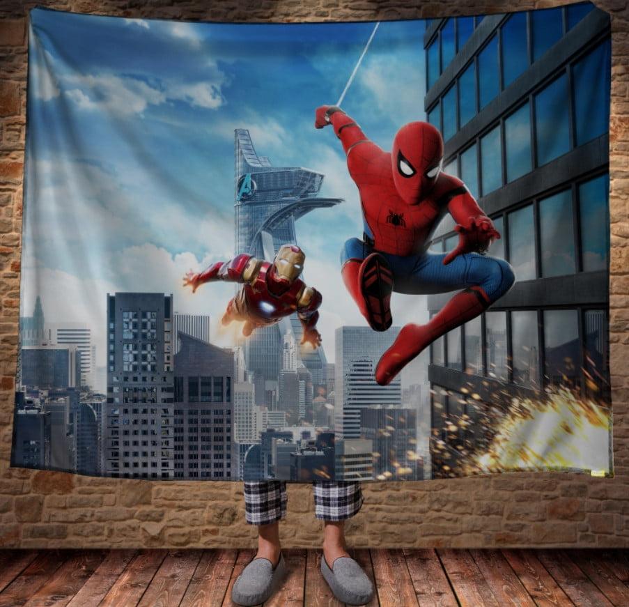 Плед з 3D принтом - Спайдермен і Залізна Людина