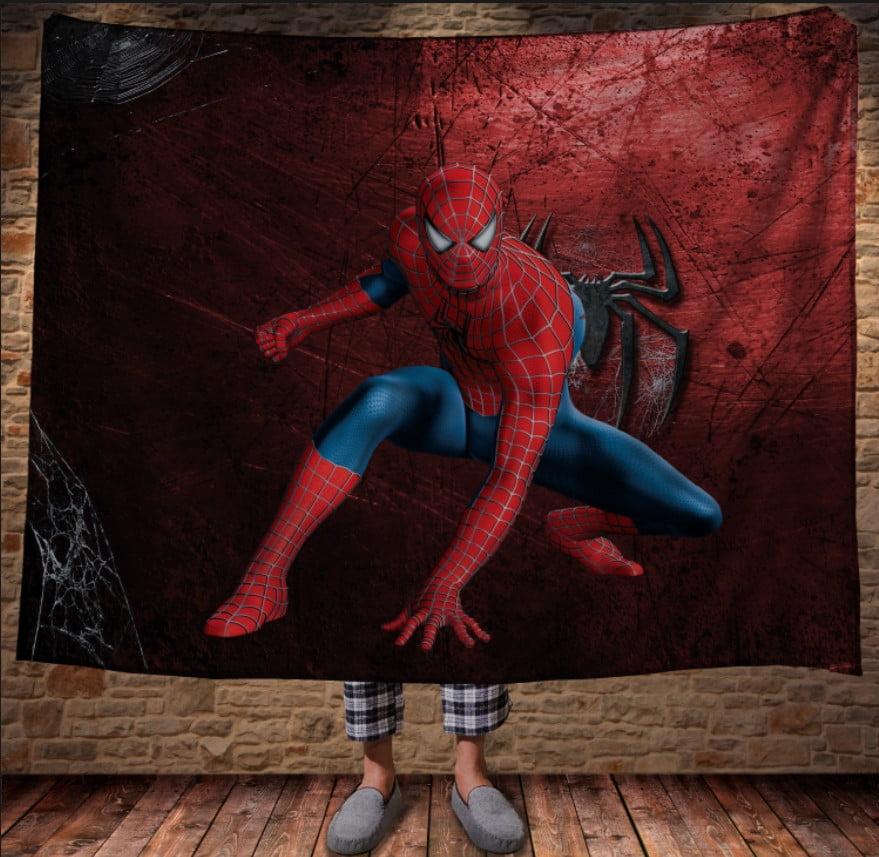 Плед з 3D принтом - Спайдермен Red