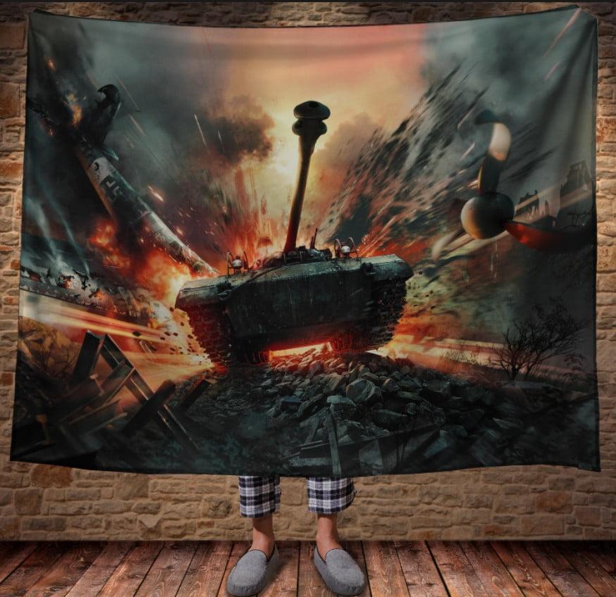 Плед з 3D принтом - War Thunder. Tank