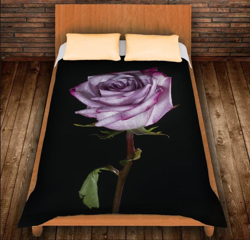 Плед з 3D принтом - Тендітна троянда