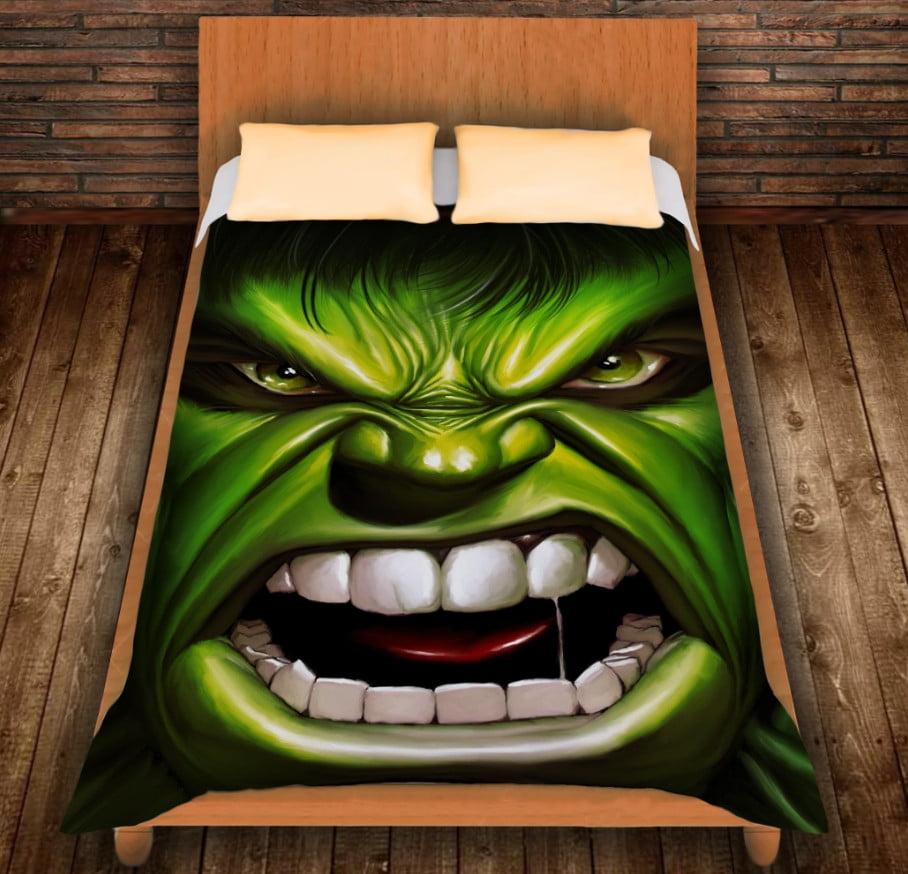 Плед з 3D принтом - Халк вільний і злий